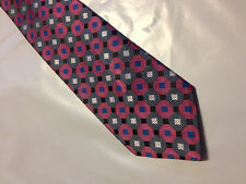 Mens Gray Pink Black Tie Necktie VAN HEUSEN~ FREE US SHIP (8945)
