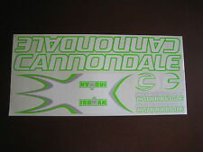 Cannondale Iroman Stickers White, Green & Silver.