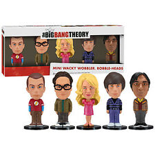 BIG BANG THEORY 5-PACK MINI BOBBLE HEAD Wacky Wobbler BobbleHead Sheldon Leonard