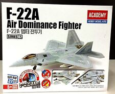 Academy Aircraft Plastic Model 4D Puzzle Kit s80148 F-22A Air Dominance Figther