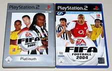 2 PLAYSTATION 2 SPIELE BUNDLE - FIFA 2003 & FIFA 2004 - FUSSBALL SOCCER PS2