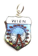 Bettelarmband Anhänger Wappen ♥ WIEN PRATER Riesenrad Vienna Souvenir ANTIK 721