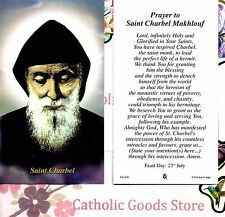 St Charbel Makhlouf with Prayer to St Charbel Makhlouf  - Paperstock Holy Card