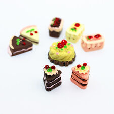8Pcs Dollhouse Miniature Cakes Assorted Chocolate Strawberry Cherry Cakes New