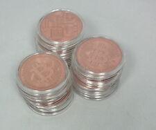 10-pc Bitcoin Bitcoin Monete Medaillien 999 Rame in Capsula NUOVO Fresco stampa