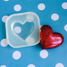 SILICONE HEART CABOCHON  MOULD - Resin Jewellery Making Mold Jewelry Shape