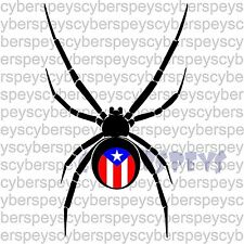 Puerto Rico Black Widow Stickers Car Vinyl Decals JDM