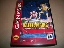 Sega Genesis Battle Mania 2 Trouble Shooter Vintage NTSC English Game + Box