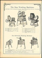 1902 AD The Boss Wood Wooden Rotary Washing Machine Richmond Rapid Washer