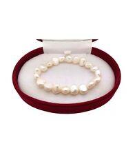 Bracciale Donna Elasticizzato Perle Barocche Bianche GA-LU01233