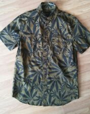 EMERICA pot leaf marijuana weed Button Down Shirt 420 kush medium