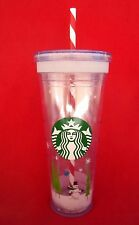 STARBUCKS CHRISTMAS HOLIDAY 24 OZ COLD DRINK ICED COFFEE TO GO TRAVEL TUMBLER