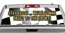 Truck Rear Window Decal Graphic [MotorSports / Stay Close] 20x65in DC12902