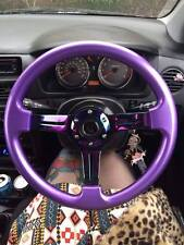 Slambox Purple Steering Wheel With Neo Chrome Centre. 350mm
