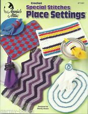 Special Stitches Place Settings Mats Crochet Pattern Annie's Attic NEW