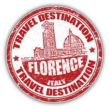 Florence Italy Grunge Rubber Stamp Travel Car Bumper Sticker Decal 5'' x 5''
