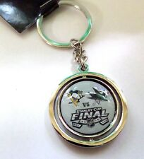 2016 Stanley Cup Dueling Spinning Key Chain - Sharks vs. Penguins