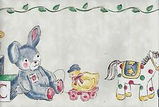 Baby Toys, Bears, Rocking Horse,Bunny, Etc. Nursery - 30 FEET WALLPAPER BORDER