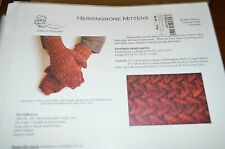Kira Designs Knitting Pattern Herringbone Mittens