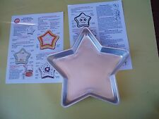 WILTON 1971 STAR SHAPED CAKE PAN WITH PRINTED DIRECTION