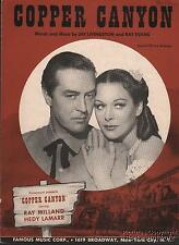 1949 Western Movie (Copper Canyon) Sheet Music (Copper Canyon)