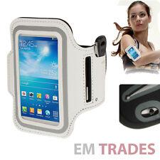 Sport Armband für Samsung Galaxy S4 mini Schutz Hülle Tasche Weiß Jogging Bag 25