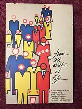 Rare Early AIDS Poster 1988 Denver Colorado Walk of Life 10K