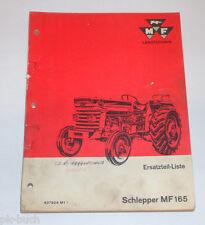 Ersatzteilliste Massey Ferguson Schlepper MF 165 Stand 01/1965