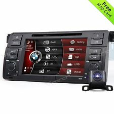 "CAM+Map+ Head Unit 7"" HD Car DVD Player Stereo BT GPS Sat Nav DAB For BMW E46 G"