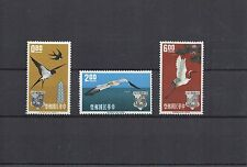 CHINE FORMOSE série Oiseaux Hirondelle grue  N° Yvert 434/436 3 timbres neufs X