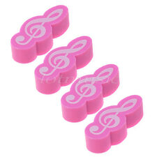 4pcs Music Note Pink Rubber Eraser Stationary Gift