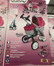 *** GIRLS SMOBY QUINNY PINK DOLLS PUSHCHAIR BUGGY STROLLER PRAM SET DOLL - GIFT