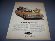 VINTAGE..1967 CHEVROLET EL CAMINO..1-PAGE COLOR ORIGINAL SALES AD..(579K)