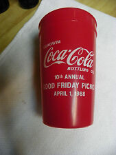 Coca Cola Plastic Cup Ouachita CC Bottling Co. 10th annual Good Friday Picnic