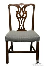 High End Solid Mahogany Straight Leg Chippendale Side Chair
