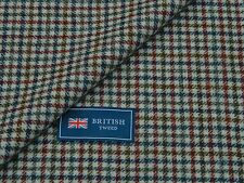100% WOOL TWEED FABRIC, WHITE/BLUE/RED/BROWN/GREY GUN CLUB MADE IN ENGLAND