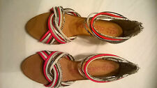 LADIES DUNE HEAD OVER HEELS MULTI STRAP BACK ZIP SHOES LOTS OF DETAIL - SIZE 40