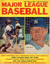 1963 Major League Baseball magazine,Mickey Mantle,New York Yankees,Willie Mays F