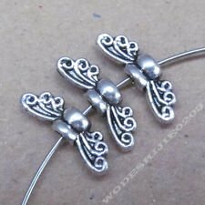 20pc Retro Tibetan Silver Bee Angel wings Spacer Beads Jewelry Findings BO227P