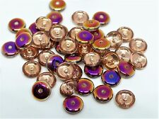 6 (mm) CZECH GLASS FLAT ROUND/DISC/RONDELLE/SPACER BEADS - 24 COLOURS - (60PCS)