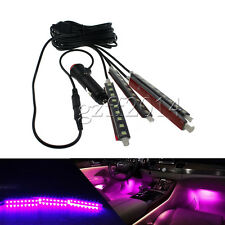 Great Car 9-LED Pink Charge Interior Accessories Foot Decorative Light 4pcs