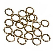 Metal Copper Twisted Rope Ring Spacer Beads 8mm - Sold as a Pack of 20 (C84/15)