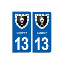 13 Mallemort blason ville autocollant plaque sticker droits