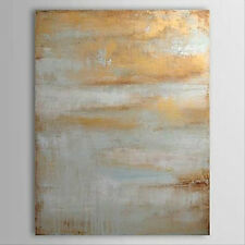 Hand-painted Large Modern Abstract Art Canvas Oil Painting Wall Art Grey Yellow