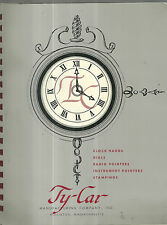 Ty-Car Manufacturing Company Clock Hands Parts Dials Radio Pointers Catalog