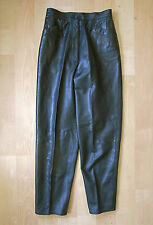 Buttery soft black leather Vakko pants tapered legs Sz 10