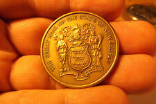 THE GREAT SEAL OF THE STATE OF NEW JERSEY THE REVOLUSTION'S CROSSROADS MEDAL