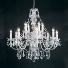 Endon 12 Light Ceiling Pendant Chandelier Glass Crystal Clear Lighting Droplets