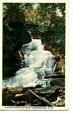 Leather Stocking Falls-Scenic Waterfall-Cooperstown-New York-NY-Vintage Postcard