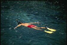 139040 Snorkelling In Lava Pools A4 Photo Print
